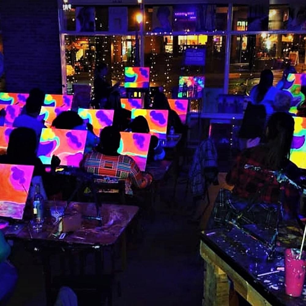 Project Human Xs Glow Paint Night