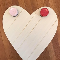 wooden heart and 2 paint pods for the Painted Heart Project from Victorias Rose