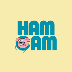 Logo for the Ham Cam Live Video Feed from the Worlds Oldest Ham at the Isle of Wight County Museum
