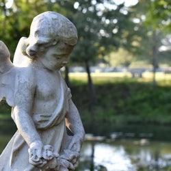 Angel statue in St Lukes cemetery