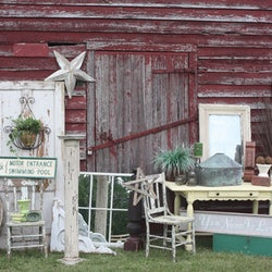 Booth of antiques and other items at the Autumn Country Vintage Market
