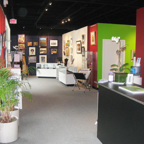 Interior of the Smithfield Visitor Center and the Arts Center at 319