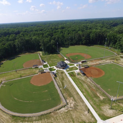Arial view of the Luter Sports Complex