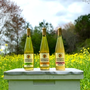 3 bottles of Mead produced by Serendipity Meadworks