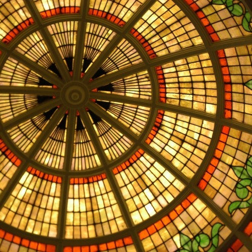 Stained Glass Dome at the Isle of Wight County Museum