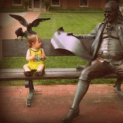 Benjamin Franklin Bronze statue
