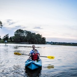 Kayaking on Cypress Creek from Windsor Castle Park