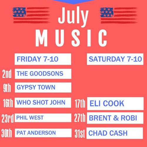 July Music at E&J's Deli Pub