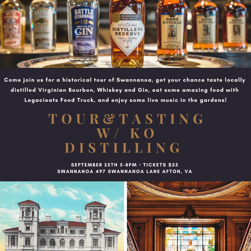 Tour and Tasting Event at Swannanoa with KO Distilling