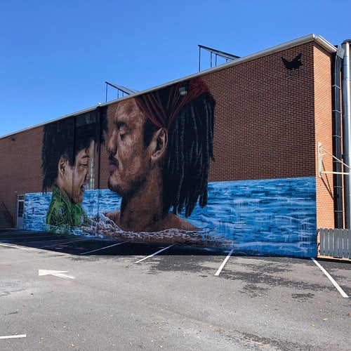 Father-Child Mural at Waynesboro Family YMCA